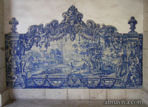 Azulejos blue tile panel Portugal