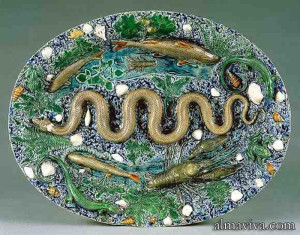 Bernard Palissy ceramic enamel pottery