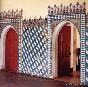 hispano-moresque tile Sintra mudejar