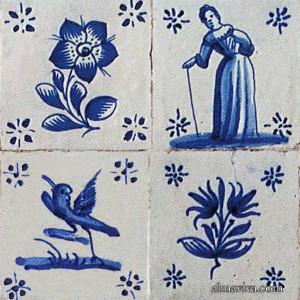 figura avulsa azulejo Delft