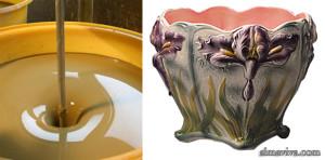 barbotine argile poterie
