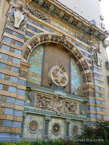 Art nouveau ceramic tiles murals and tile panels - Sofitel paris porte de sevres ...