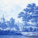 Delft tile panel van Frytom