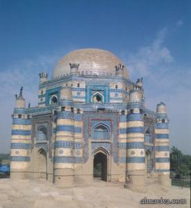 Multan tile-work shrine ceramic