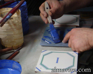 pochoir pour carreau de céramique