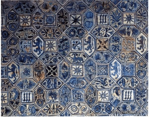 tin-glazed medieval ceramic tile