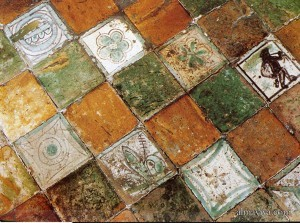 glazed tile palais papes Avignon Papal Palace