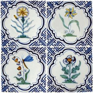 Delft flower tile Wan-Li