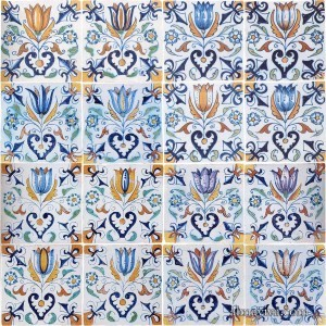 Delft tile tulip Dutch Delftware