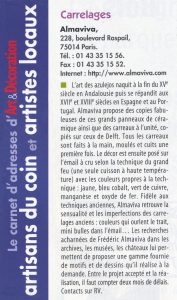 Press articles on Almaviva tile studio Art & Decoration