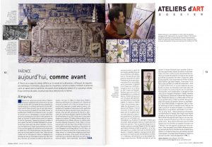 Press articles on Almaviva tile studio Ateliers d'Art