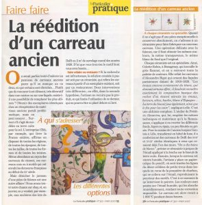 Press articles on Almaviva rendition of ancient tiles