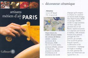 l'atelier Almaviva dans le guide Gallimard sur les artisans d'art à Paris