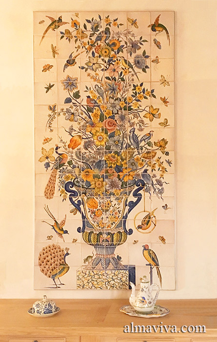 Ref. D03 - Rich polychrome bouquet, size 90x180 cm (about 3'x6')